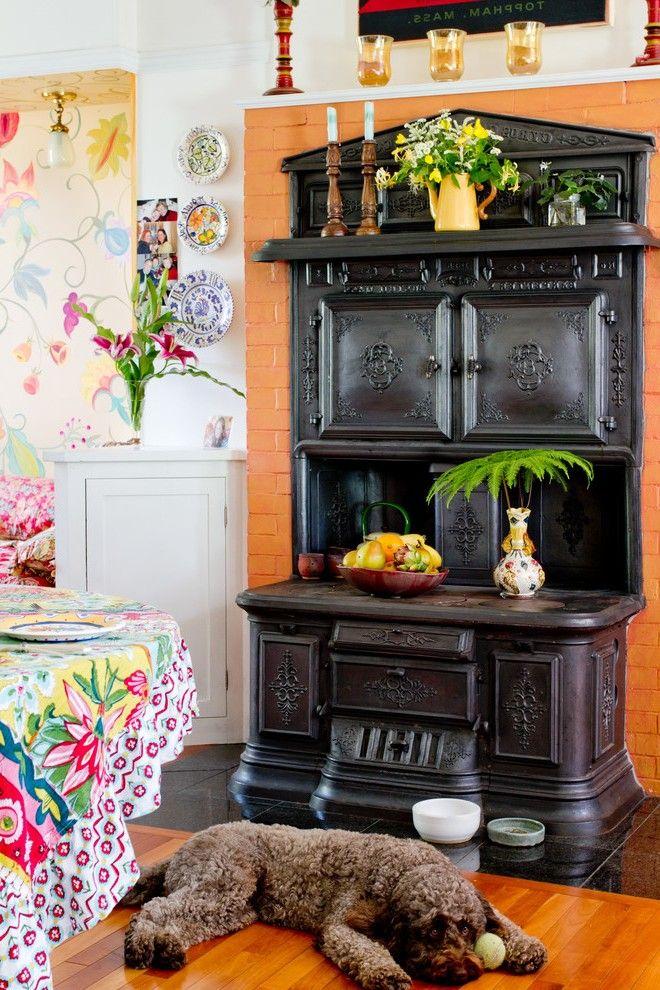 Antique Kitchen Cabinets Mediterranean with Stone New York Tile