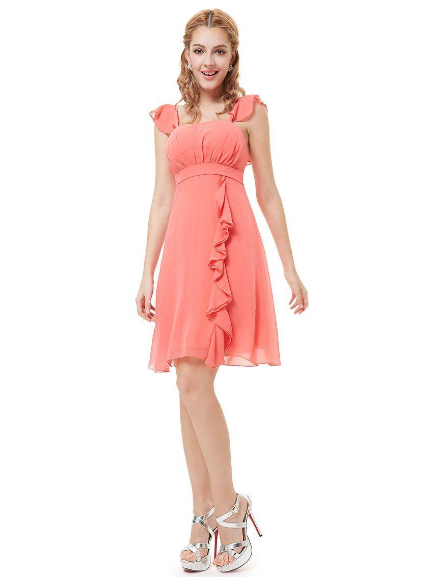 Ever Pretty Ruffles Empire Waist Padded Summer Bridesmaids Dress ...