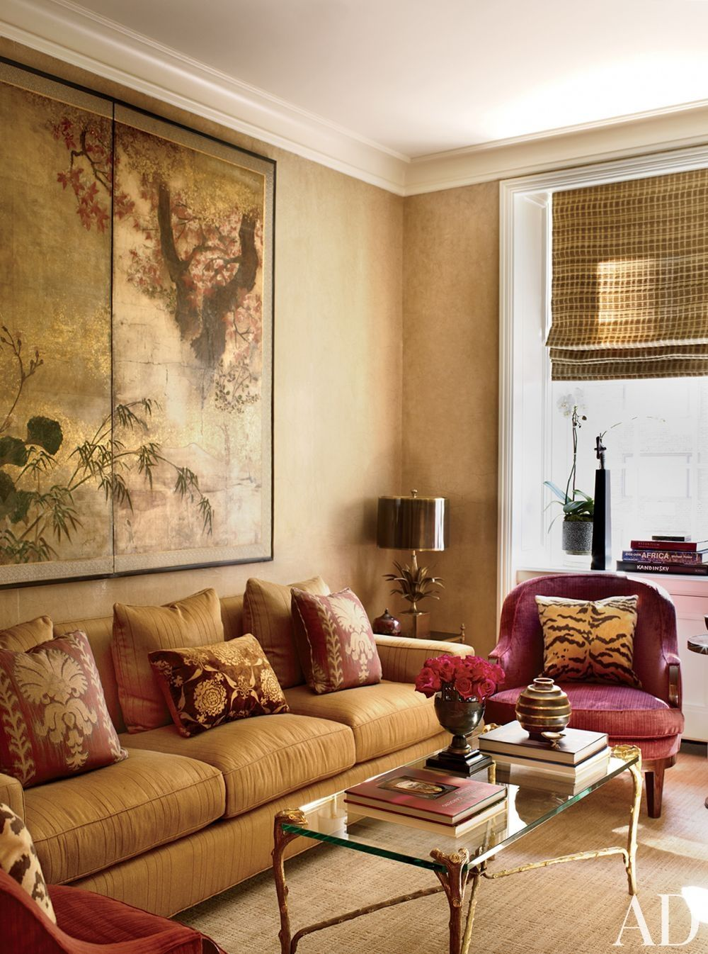 Traditional mediagame room by michael s smith inc and peter