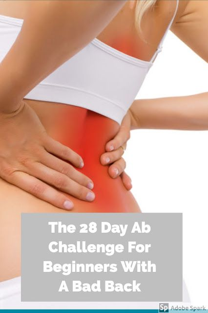 The 28 Day Ab Challenge For Beginners With A Bad Back #abchallenge