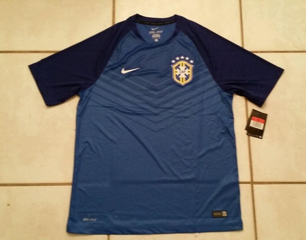 NWT Authentic NIKE Brazil National Team  Soccer Training Jersey Men's Large #Nike #Brazil