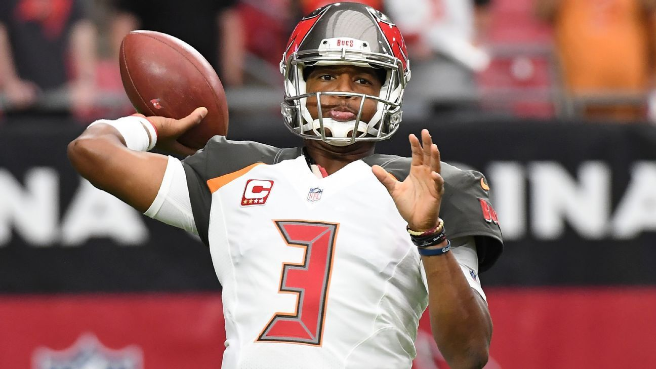 Bucs Dirk Koetter No Decisions On Jameis Winston Practicing Until Wednesday With Images Nfl Nfl Teams Sports