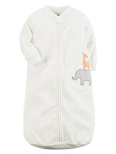 4999d5c3adc8 Carters Infant Boys White Elephant   Giraffe Sleep Sack Baby Bunting ...