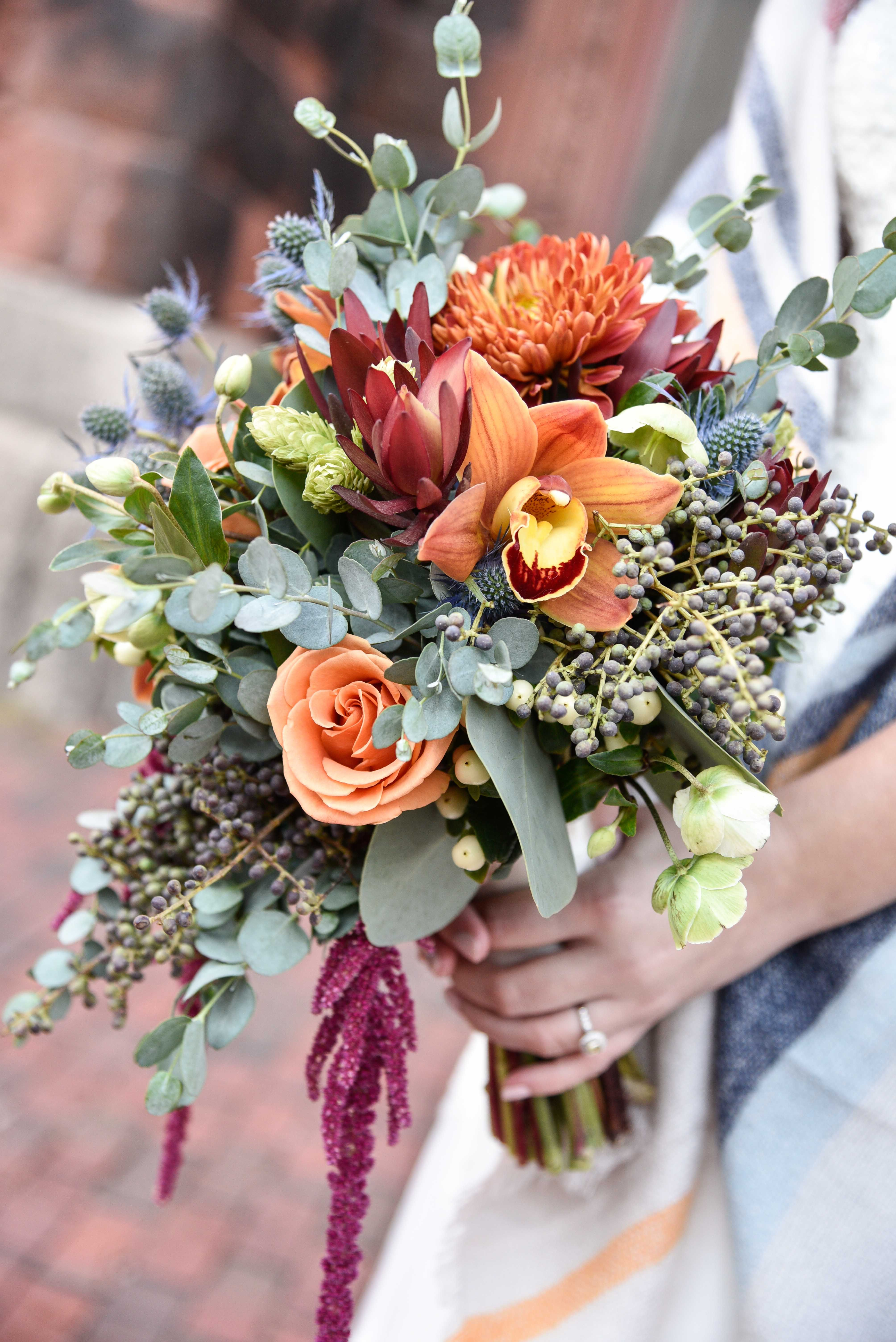 Warm Fall Wedding In Portland Maine Featured In Old Port Magazine Skillins Flora Maine Wedding Flowers Fall Wedding Flowers Orange Maine Wedding Photography