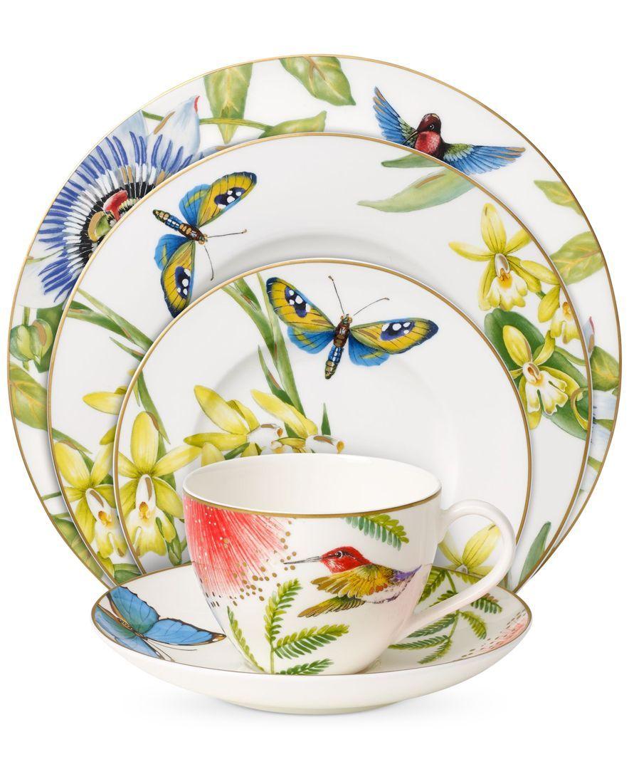 Villeroy Boch Amazonia Collection Bone Porcelain 5 Pc Place