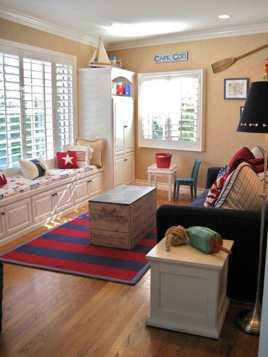 Playroom/guest Room Idea With Sofa Bed