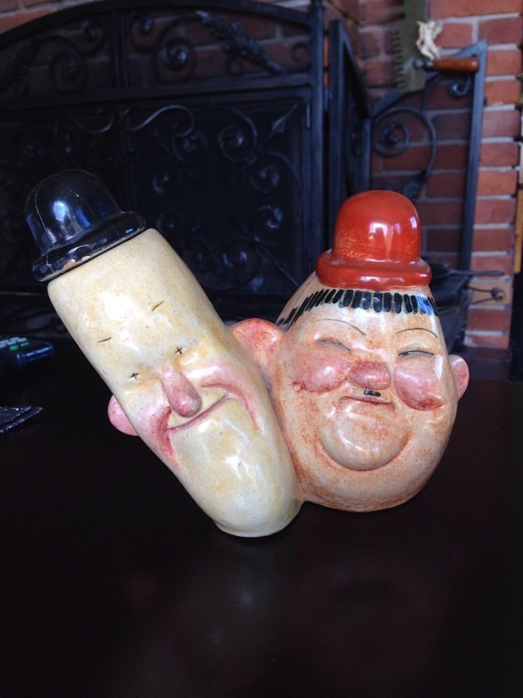 Rare Old Vintage Ceramic Or Pottery Laurel And Hardy