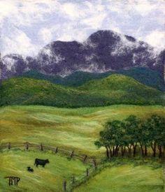 Gallery 2 of wool felted paintings