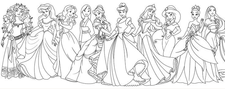 Pretty Coloring All Disney Princess Coloring Pages On Download All Disney Princ Princess Coloring Pages Disney Princess Coloring Pages Disney Princess Colors