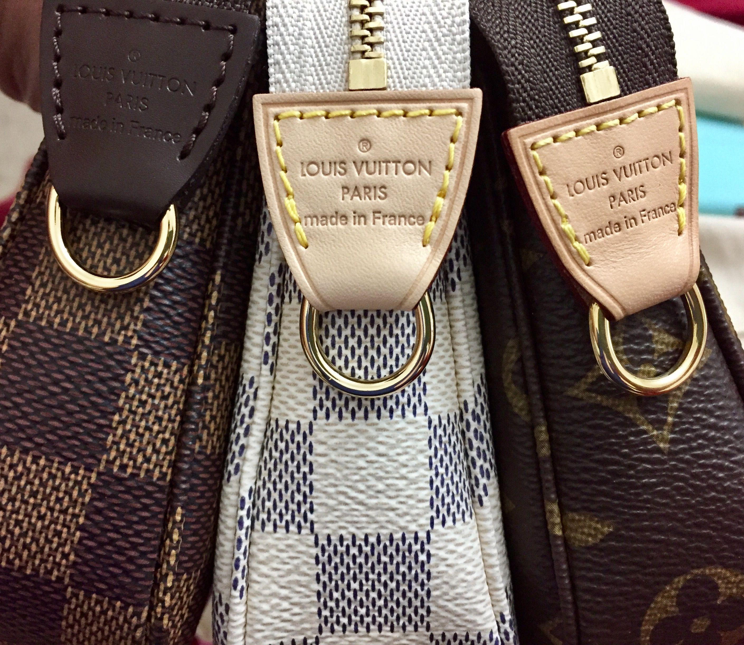 Louis Vuitton Pochette Accessoires NM in damier ebene, damier azur, monogram