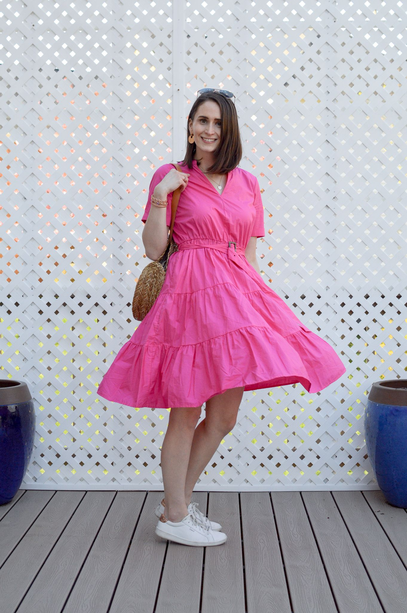 Adding Color To Your Wardrobe Breezing Through Pink Summer Dress Dresses Bright Pink Dresses [ 2048 x 1362 Pixel ]