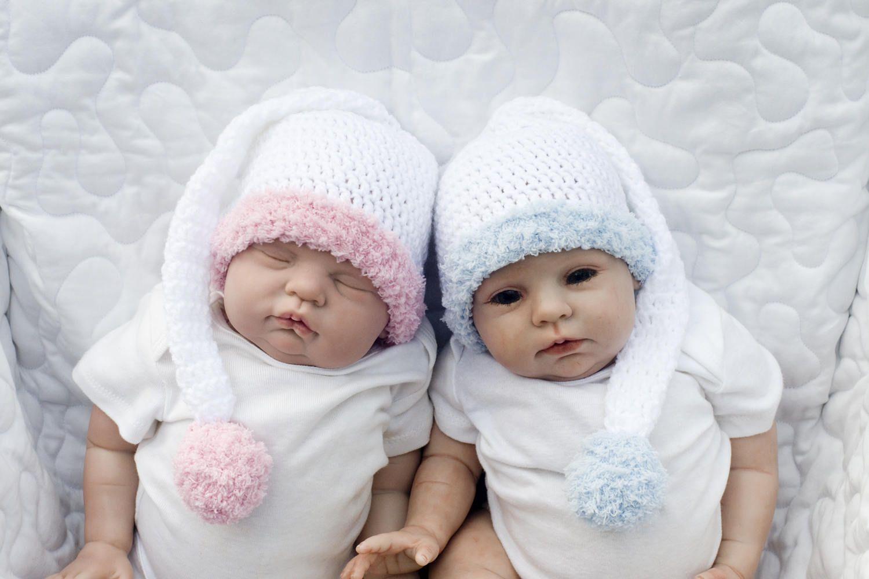 BABY BOY HATS, Baby Elf Hat, Newborn Boy Hat, Baby Long Tail