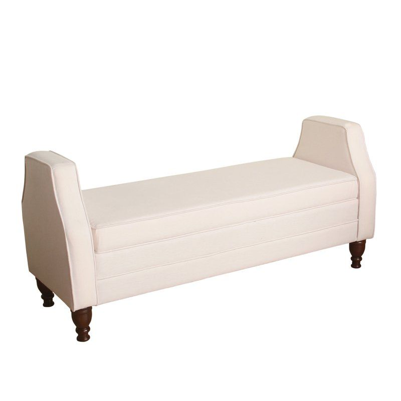 Raubsville Upholstered Storage Bench, Blush Pink Bench, Blush Pink Decor,  Light Mauve,