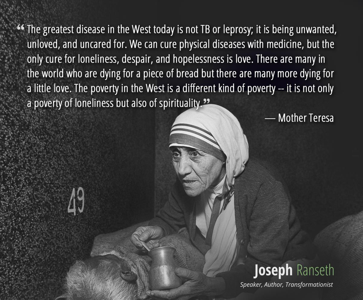 Mother Teresa Quotes Poverty QuotesGram Quotes from Mother Teresa and Other Good People Pinterest