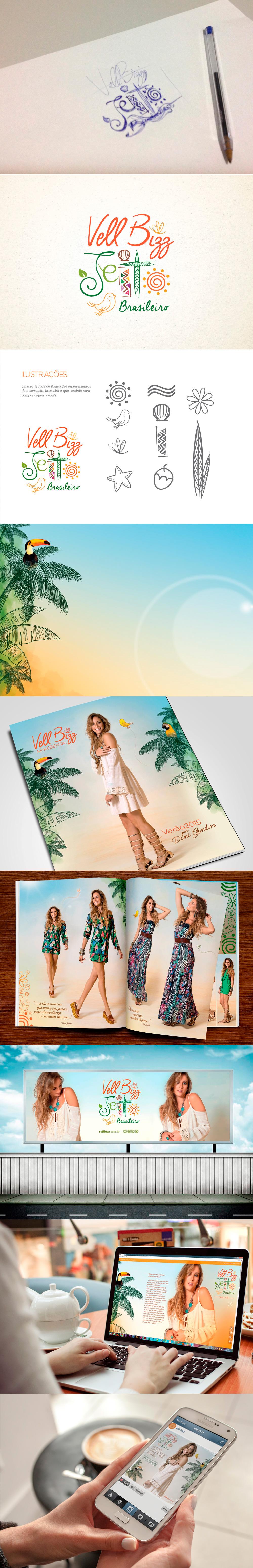 Mais um projeto finalizado  Campanha Verão 2015 / Cliente: Vell Bizz #mundoimagine