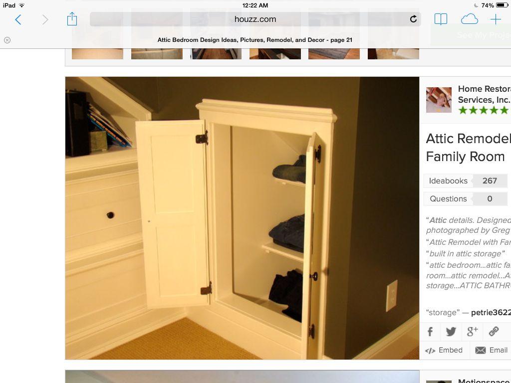 Storage Attic Remodel Attic Rooms Attic Wardrobe