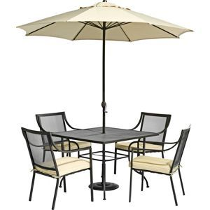 rimini 4 seater metal garden furniture set collect in store