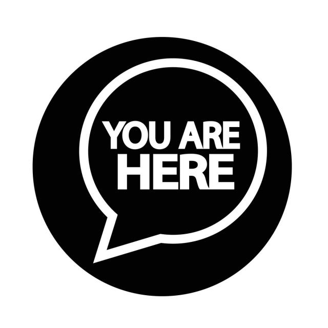 You Are Here Icon Destination Icon Sign Png And Vector With Transparent Background For Free Download Free Vector Illustration Icon Font Illustration