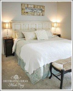 Master Bedrooms Diy Blogs Headboard From Old Door Remodel