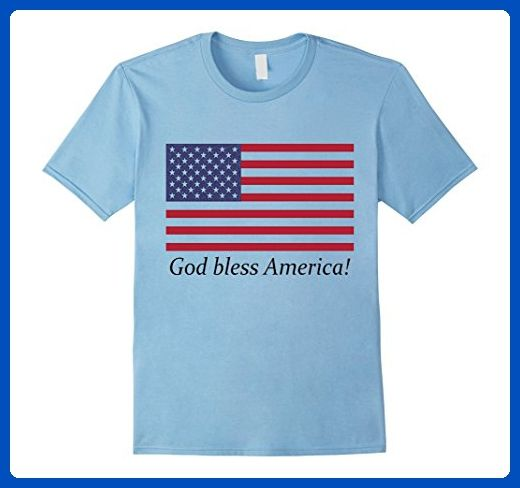 Mens American Flag T-Shirt God bless America 4th of July Clothing 2XL Baby Blue - Holiday and seasonal shirts (*Amazon Partner-Link)