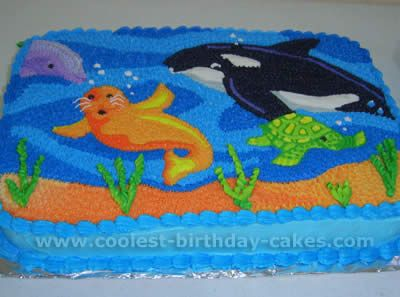 Coolest Ocean Cake Ideas and Photos Sea cakes Cake pictures and