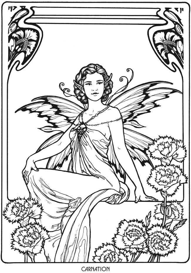 Welcome to Dover Publications Floral Fairies Coloring Book ...
