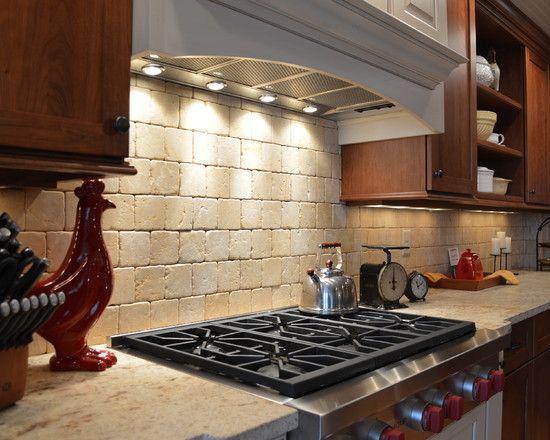 backsplash rustic tile backsplash traditional kitchens islands rh pinterest com Rustic White Kitchen Tile Backsplash Ideas Rustic Kitchen Range Backsplash