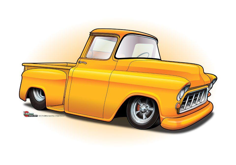 Cartoon 1954 Chevy Truck Google Search Car Drawings Truck Art