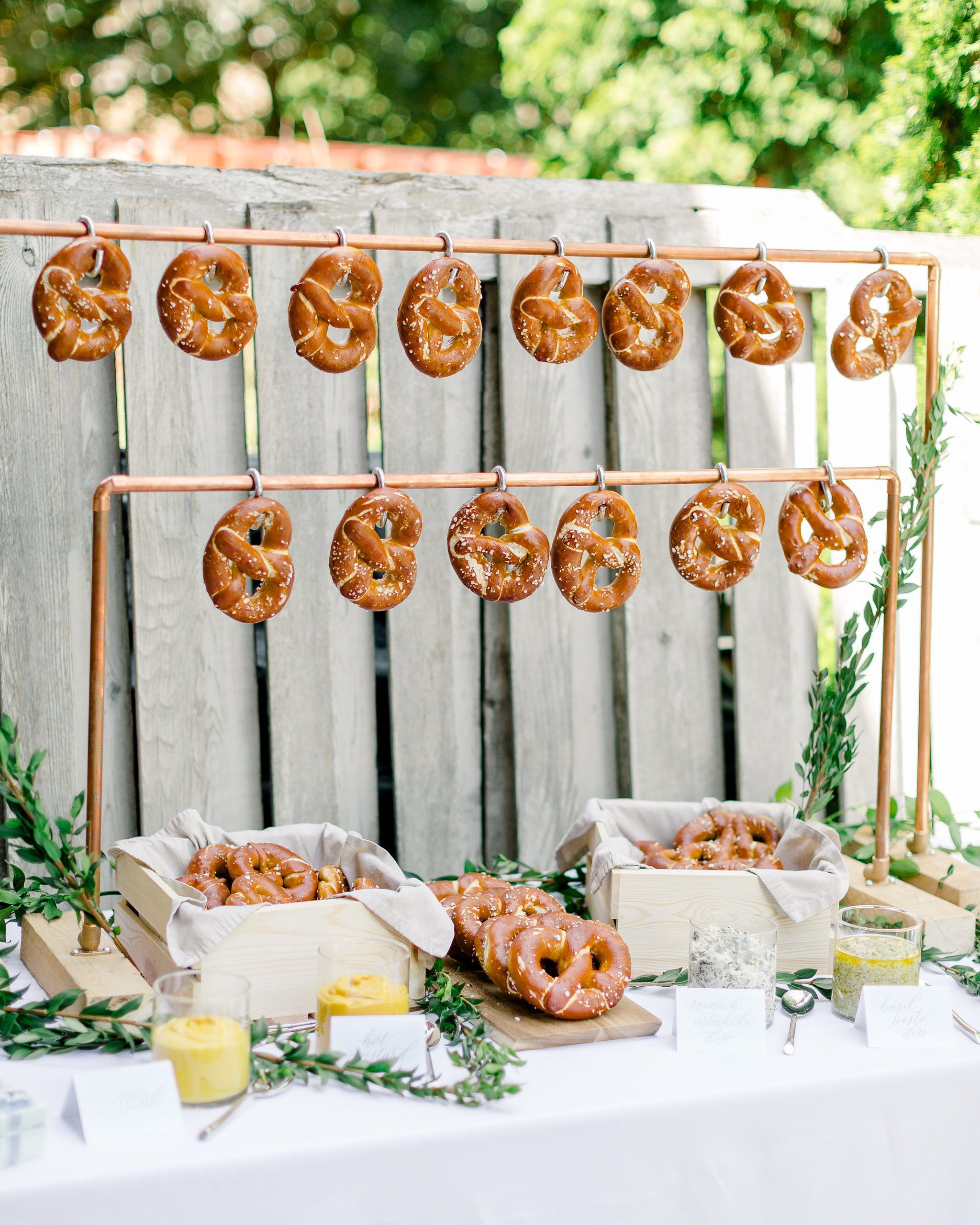 20 Wedding Food Walls That Will Literally Elevate Your Big Day