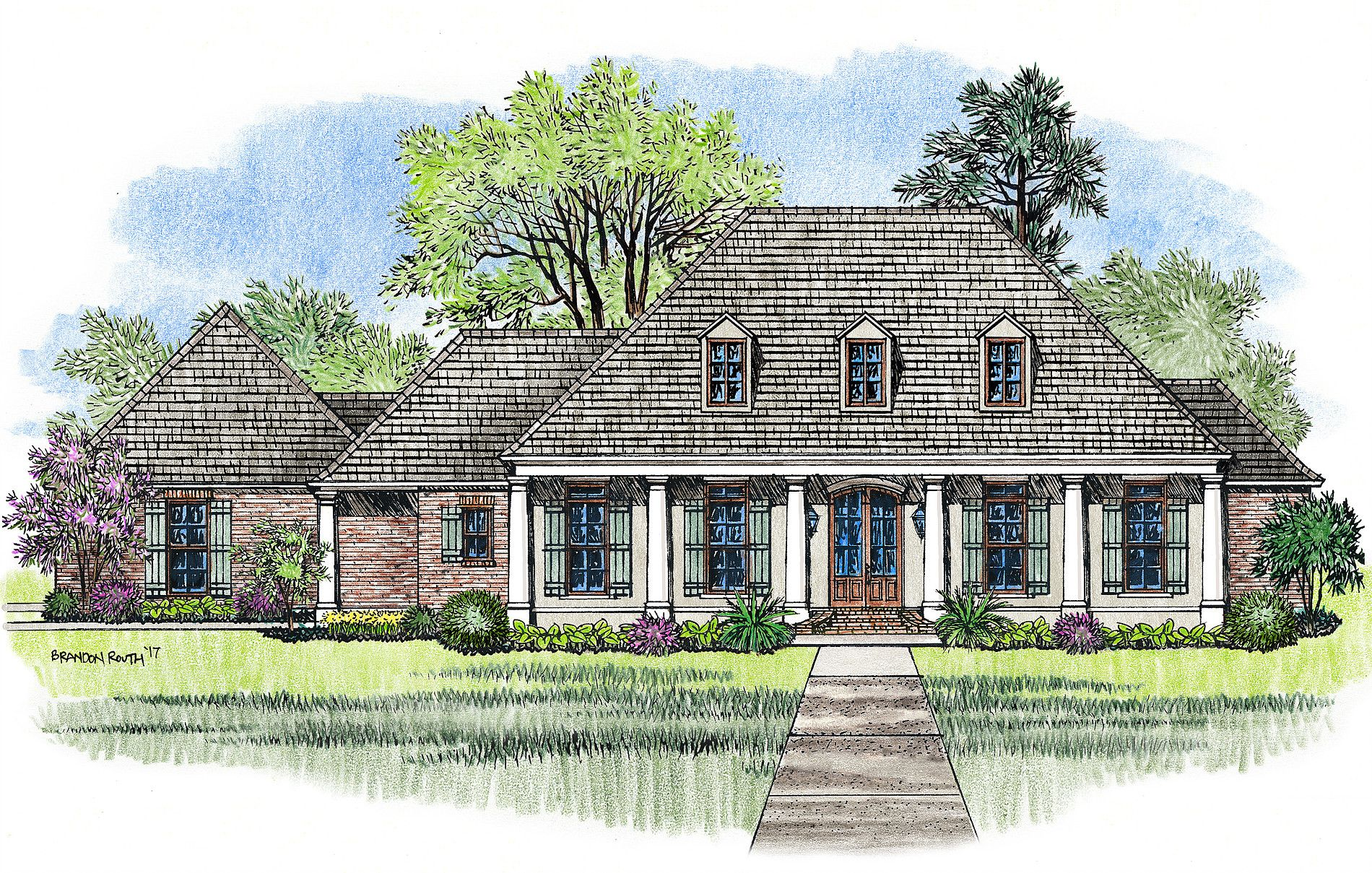 The Heritage Plan by Madden Home Design | French Quarter Design ...