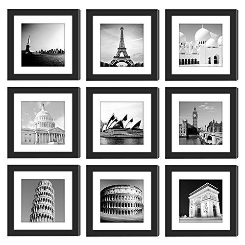 4pcs 11x14 Picture Frames Black Wood Instagram Photo Frames With 3 Mats For 8 5x11 Or 8x10 Or 5x7 Pictures Frame Wall Collage Frame Matting Gallery Wall
