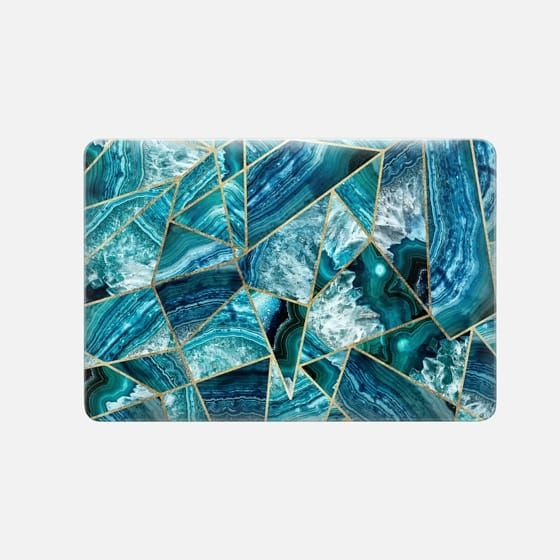 huge selection of 77221 f7a55 Macbook Snap MacBook Pro Retina 13-inch Case - Blue and White Agate ...