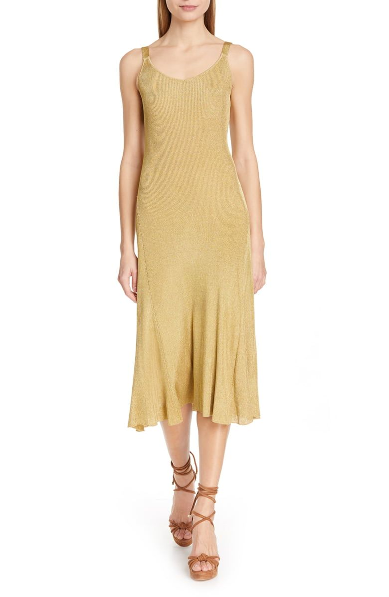 tommy hilfiger gold dress