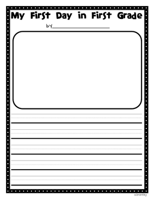 my first day of first grade writing template Crazy for