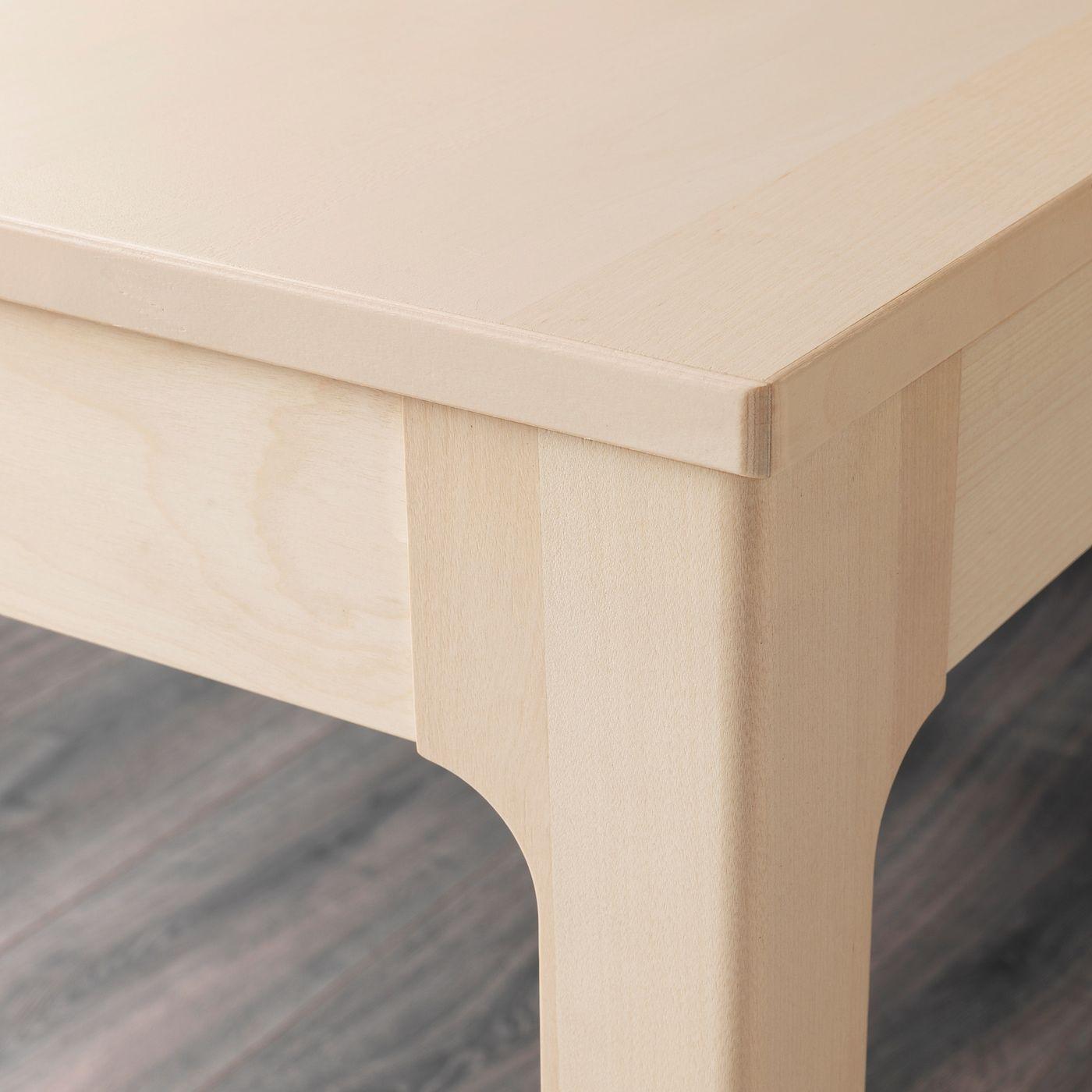 Ekedalen Leifarne Tisch Und 4 Stuhle Birke Weiss In 2020 Ausziehtisch Tisch Und Ikea