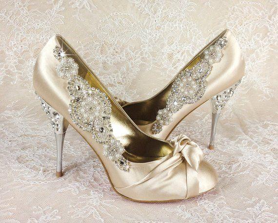 4b92770a03 Wedding Shoe Clips, Bridal Shoe Clip, Crystal Shoe clip, Rhinestone Shoe  Clip, bridesmaids Shoe clip