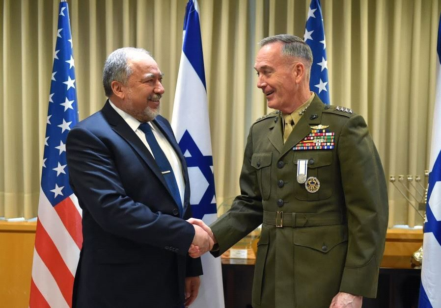 #ISRAELI #DEFENSE #OFFICIALS #SALUTE #TOP #US #ARMY #GENERAL  ➡ http://www.jpost.com/Israel-News/Israeli-defense-officials-salute-top-US-Army-general-490207  #Photo: Defense Minister Avigdor Liberman meets with US Army General Joseph Dunford, Chairman of the Joint Chiefs of Staff, in Jerusalem, May 9, 2017