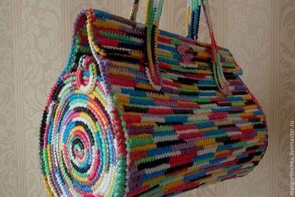 """Женские сумки ручной работы. Заказать Сумка """"Приручи радугу"""". Margo. Ярмарка Мастеров. Летняя сумка, вязаная сумка, полиэтилен"""