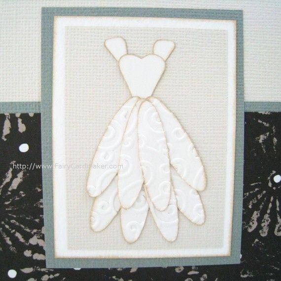 Wedding Dress Card Bride and Bridal Shower by FairyCardmaker