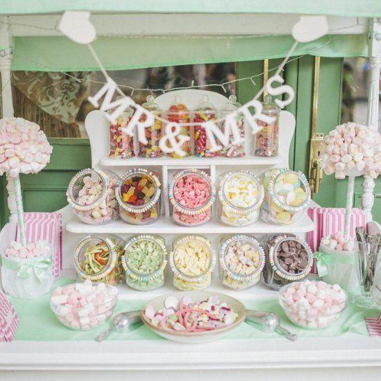 Hochzeitstischdekoration Ideen – Bonbonbuffet, #bonbonbuffet #hochzeitstabel … – Holz DIY Ideen