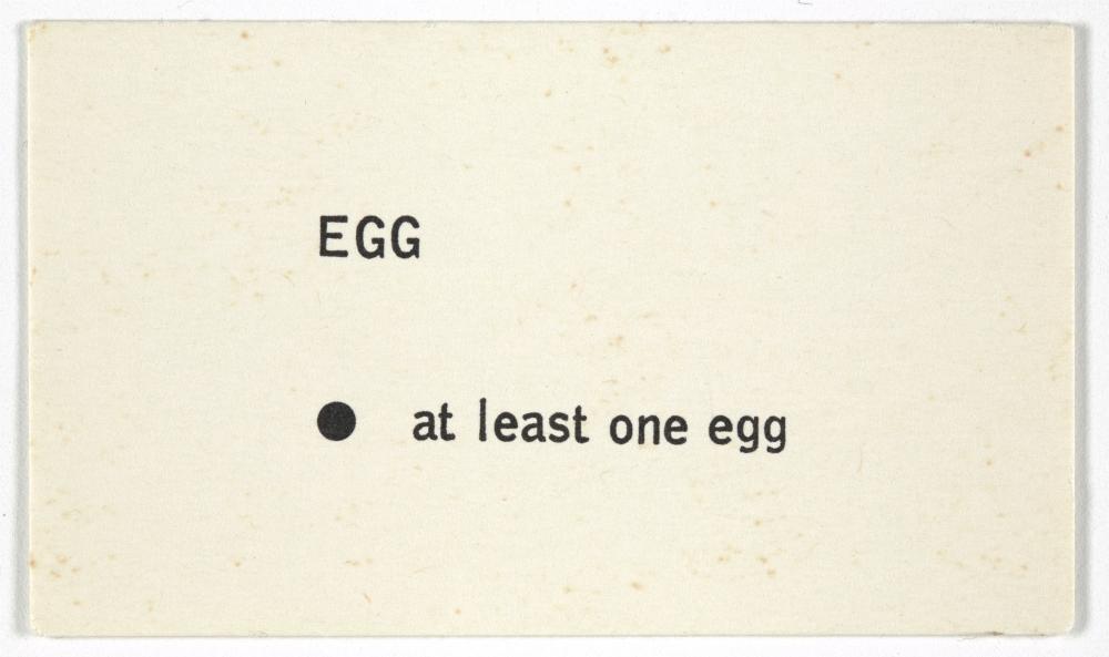 George Brecht Egg From Water Yam 1963 Moma Brecht Artist Books Sketch Book