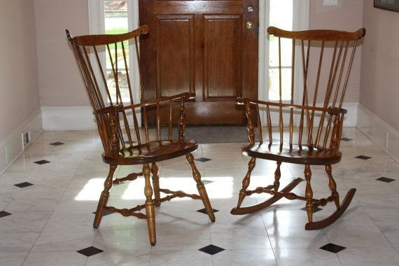 S. Bent Brothers Spindle Back Windsor Chairs By BrownDogEmporium, $300.00  Etsy