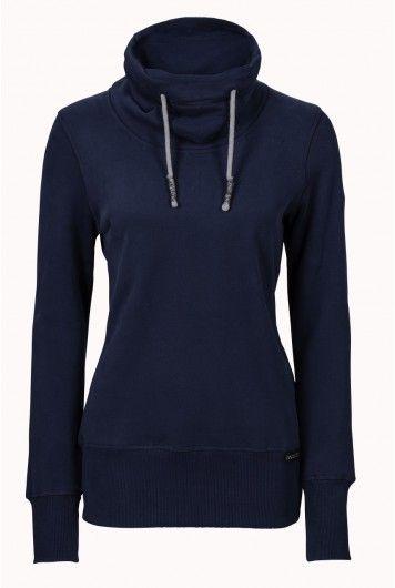 recolution organic Hoodie Frauen blau fair trade Pullover Bio Baumwolle 4bf0e0ff65