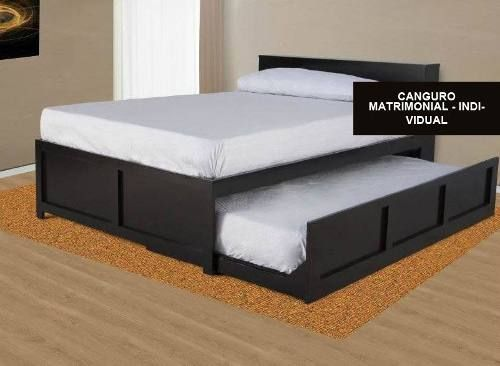 Matrimonio Bed Bugs : Base canguro matrimonial individual chocolate oscuro