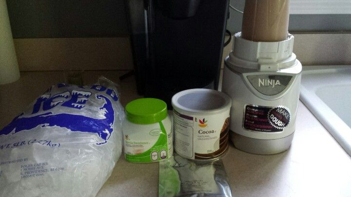 Ideal protein icecream! 1pkg IP vanilla shake 1tsp unsweetened cocoa 1tsp stevie 6oz water 6-8 ice cubes Blend Enjoy!!!