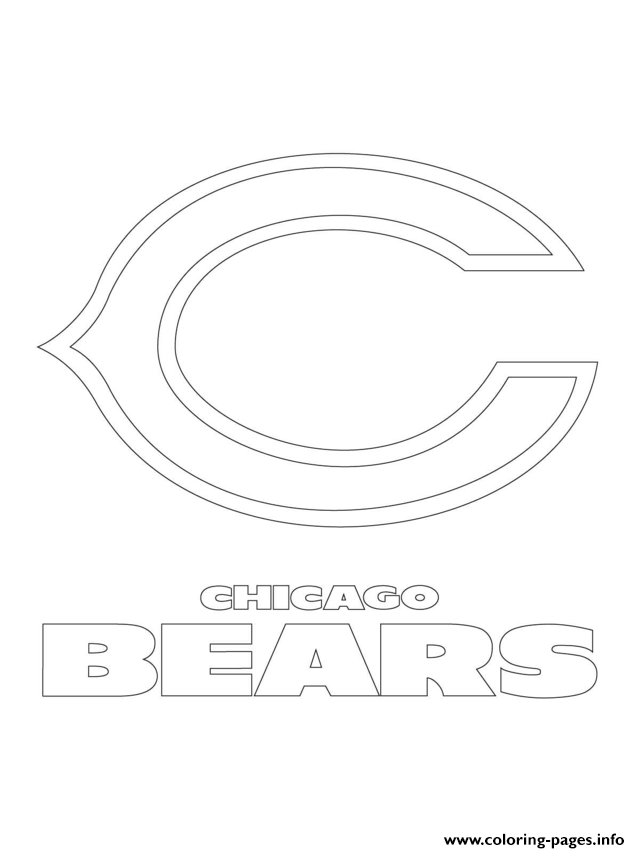 Chicago Bears Logo Football Sport coloring pages | Coloring ...