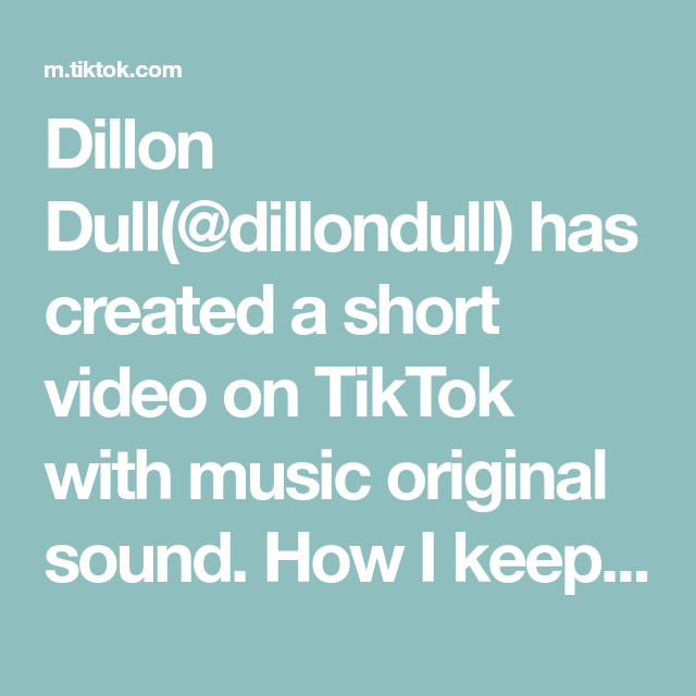 Dillon Dull Dillondull Has Created A Short Video On Tiktok With Music Original Sound How I Keep Buying Multiple Propertie The Originals Bon Iver Greenscreen