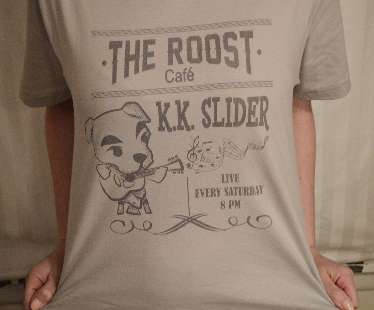 Unisex T-Shirt K K Slider Animal Crossing T-Shirt Shirts For Men Women White T Shirts