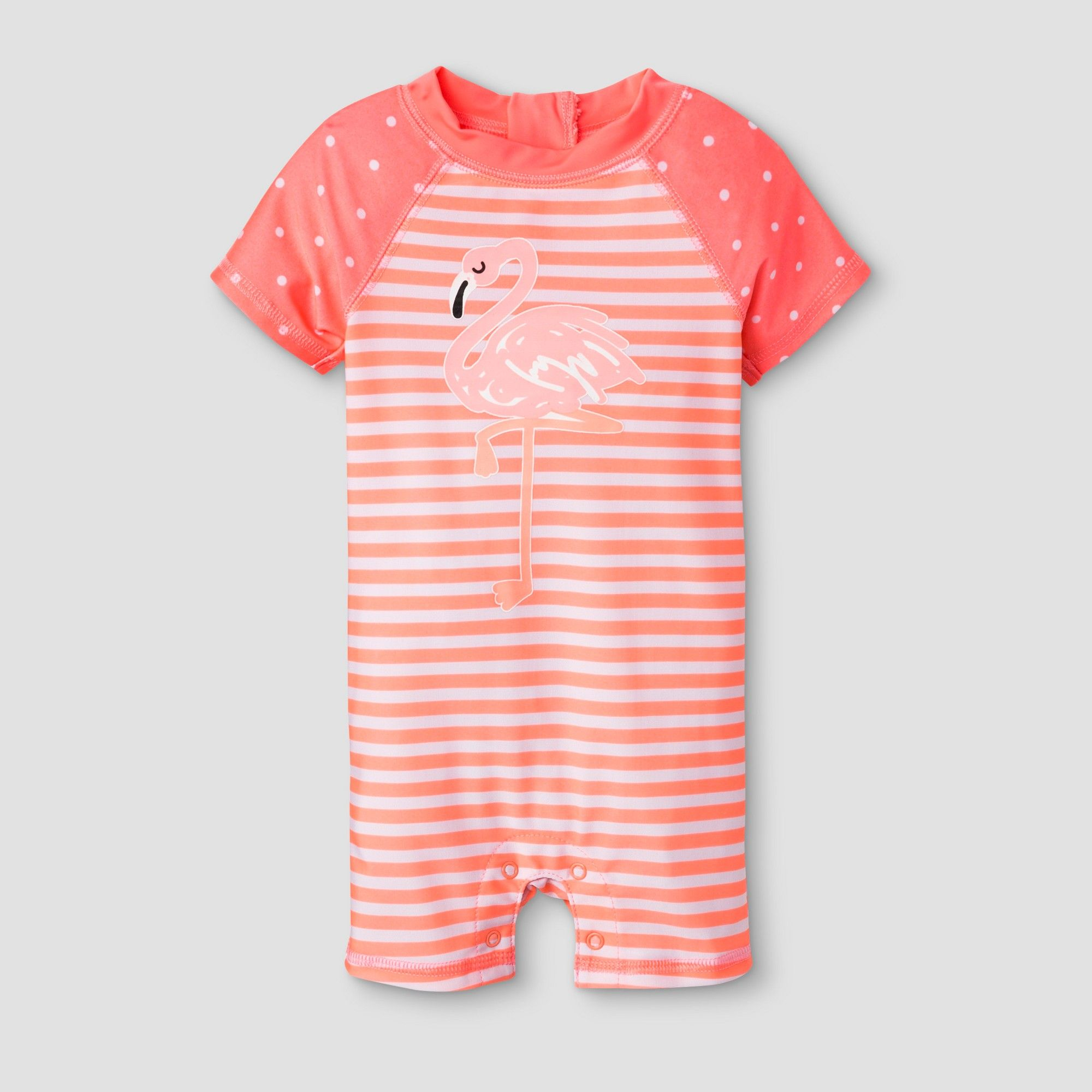 ff2d1ae665d Baby Girls' Short Sleeve Flamingo One Piece Swimsuit - Cat & Jack Coral  12-18M, Pink