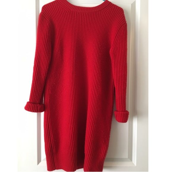 b3921d23f88c Michael Kors Red Sweater Dress Michael Kors Style Sweater Dress. Perfect  for a party or casual wear! Only worn a few times for work. 70% wool 30%  cashmere ...